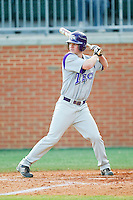 Austin Wulf #17 of the Tennessee Tech Golden Eagles at bat against the Charlotte 49ers at Robert and Mariam Hayes Stadium on March 8, 2011 in Charlotte, North Carolina.  Photo by Brian Westerholt / Four Seam Images