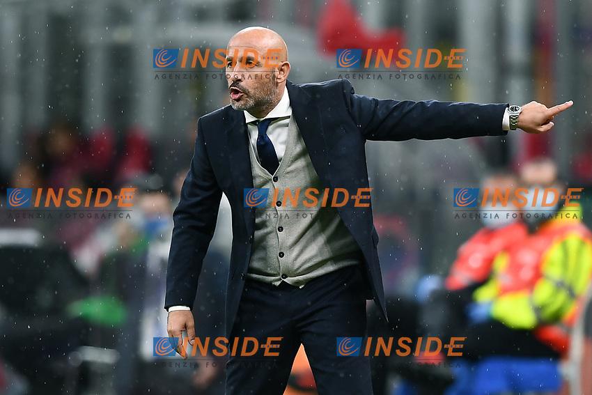 Vincenzo Italiano coach of Spezia Calcio reacts during the Serie A football match between AC Milan and Spezia Calcio at San Siro Stadium in Milano  (Italy), October 4th, 2020. Photo Image Sport / Insidefoto