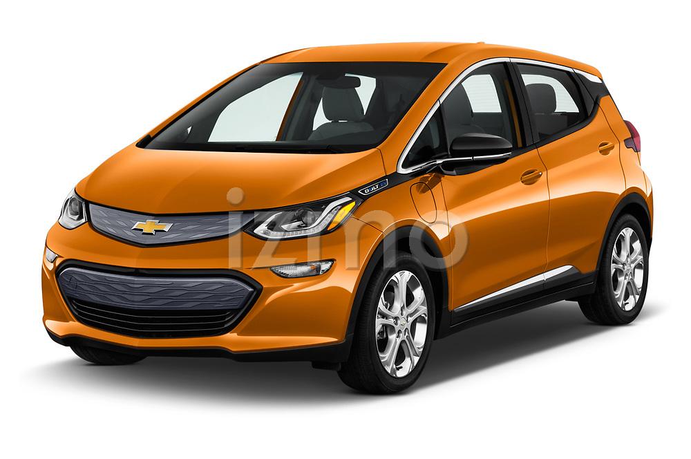 2019 Chevrolet Bolt EV LT 5 Door Hatchback angular front stock photos of front three quarter view