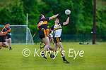 Brendan O'Sullivan Austin Stacks and Brendan Coppinger Dr Crokes contest the dropping ball during their Div1 County League game in Lewis Road on Saturday