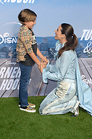 """LOS ANGELES - JUL 15:  Jeremy Maguire, Lyndsy Fonseca at Disney+ """"Turner & Hooch"""" Premiere Event at Westfield Century City Mall on July 15, 2021 in Century City, CA"""
