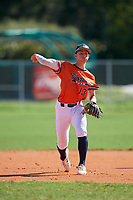 Jake Mummau (13) during the WWBA World Championship at Lee County Player Development Complex on October 9, 2020 in Fort Myers, Florida.  Jake Mummau, a resident of Palm Harbor, Florida who attends Palm Harbor University High School, is committed to St. Petersburg College.  (Mike Janes/Four Seam Images)