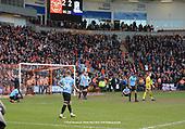 09/03/2019 Sky Bet League 1 Blackpool v Southend United<br /> Blackpool fans celebrate the dded time equaliser