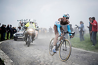 Julien Duval (FRA/AG2R-La Mondiale)<br /> <br /> 117th Paris-Roubaix 2019 (1.UWT)<br /> One day race from Compiègne to Roubaix (FRA/257km)<br /> <br /> ©kramon
