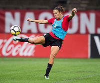 New Orleans, LA - October 18, 2017: The USWNT trains before their friendly against South Korea at the Superdome.