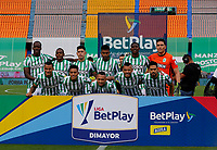MEDELLIN - COLOMBIA, 02-05-2021: Jugadores de Nacional posan para una foto previo al partido por los cuartos de final vuelta de la Liga BetPlay DIMAYOR I 2021 entre Atlético Nacional y La Equidad jugado en el estadio Atanasio Girardot de la ciudad de Medellín. / Players of Nacional pose to a photo prior match for the quarterfinal second leg as part of BetPlay DIMAYOR League I 2021 between Atletico Nacional and La Equidad played at Atanasio Girardot stadium in Medellín city. Photo: VizzorImage / Donaldo Zuluaga / Cont