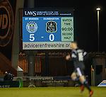 27.3.2018: St Mirren v Dumbarton:<br /> Scoreboard at full time