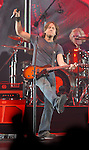 Keith Urban performs during his Love, Pain & the Whole Crazy World Tour at the Toyota Center in Houston,Texas Thursday July 5,2007.