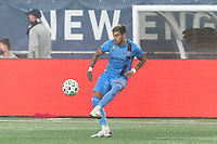 FOXBOROUGH, MA - SEPTEMBER 02: Ronald Matarrita #22 of New York City FC traps the ball during a game between New York City FC and New England Revolution at Gillette Stadium on September 02, 2020 in Foxborough, Massachusetts.