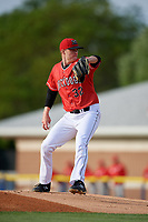 Batavia Muckdogs starting pitcher Remey Reed (32) during a NY-Penn League game against the Auburn Doubledays on June 14, 2019 at Dwyer Stadium in Batavia, New York.  Batavia defeated 2-0.  (Mike Janes/Four Seam Images)