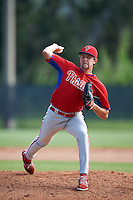 Philadelphia Phillies pitcher Justin Miller (44) during an Instructional League game against the Toronto Blue Jays on October 1, 2016 at the Carpenter Complex in Clearwater, Florida.  (Mike Janes/Four Seam Images)