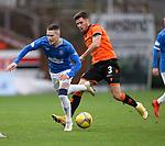 13.12.2020 Dundee Utd v Rangers: Ryan Kent tripped by Adrian Sporle