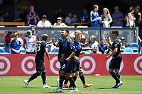SAN JOSE, CA - JUNE 8: Chris Wondolowski #8 celebrates scoring during a game between FC Dallas and San Jose Earthquakes at Avaya Stadium on June 8, 2019 in San Jose, California.
