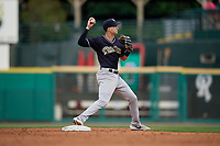 Scranton/Wilkes-Barre RailRiders shortstop Tyler Wade (9) throws to first base during an International League game against the Rochester Red Wings on June 24, 2019 at Frontier Field in Rochester, New York.  Rochester defeated Scranton 8-6.  (Mike Janes/Four Seam Images)