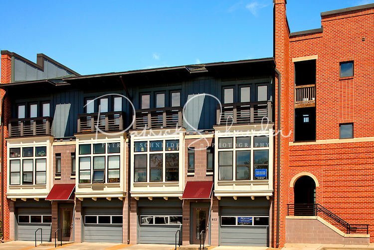 Part of a photography collection showing the variety of architectural styles of homes, apartments and condos in metropolitan Charlotte, NC. Image taken of New Bern Station Court - Charlotte, NC.