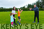 Tadhg OCallaghan Rathmore back playing with his  children l-r: Tiernan, Clodagh and Fiadh