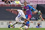 FC Barcelona's Antoine Griezmann (r) and Getafe CF's Mathias Olivera during La Liga match. August 29, 2021. (ALTERPHOTOS/Acero)