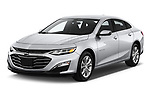 2020 Chevrolet Malibu LT 4 Door Sedan angular front stock photos of front three quarter view