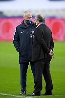 17th November 2020; Stade de France, Paris,  France; UEFA National League international football, France versus Sweden;  Didier Deschamps - traineur (France) speaks with Noel Le Graet President of the FFF