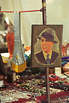 Carlos Gardel poster, Buenos Aires Argentina South America. Plaza Dorrego Sunday Flee  market San Telmo area. 2000s 2002