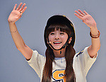 """So-Yul(CRAYON POP), July 22, 2015 : Soyul of Crayon Pop attends the promotion event for their new single """"ra ri ru re"""" at Lazona Kawasaki Plaza in Kawasaki, kanagawa prefecture, Japan, on July 22, 2015. They performed the opening act for Lady Gaga's """"ArtRave: The Artpop Ball concert tour"""" in twelve cities across North America on 2014."""