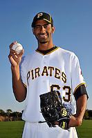 Feb 28, 2010; Bradenton, FL, USA; Pittsburgh Pirates  pitcher Ronaldo Uviedo (63) during  photoday at Pirate City. Mandatory Credit: Tomasso De Rosa/ Four Seam Images