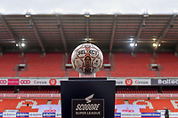 matchball pictured before a female soccer game between Standard Femina de Liege and AA Gent Ladies on the 6th matchday in play off 1 of the 2020 - 2021 season of Belgian Scooore Womens Super League , tuesday 11 th of May 2021  in Liege , Belgium . PHOTO SPORTPIX.BE | SPP | STIJN AUDOOREN