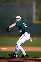 Dartmouth Big Green relief pitcher Jack Fossand (30) delivers a pitch during a game against the Villanova Wildcats on February 27, 2016 at South Charlotte Regional Park in Punta Gorda, Florida.  Villanova defeated Dartmouth 14-1.  (Mike Janes/Four Seam Images)
