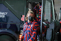 KANSAS CITY, KS - JULY 15: Walker Zimmerman #5 of the United States arriving at the stadium before a game between Martinique and USMNT at Children's Mercy Park on July 15, 2021 in Kansas City, Kansas.