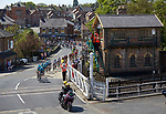 Picture by Shaun Flannery/SWpix.com - 05/05/2018 - Cycling - 2018 Tour de Yorkshire - Stage 3: Richmond to Scarborough - Yorkshire, England<br /> <br /> Peloton passes through Bedale.