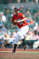 Fort Wayne TinCaps pitcher James Jones #32 during a Midwest League game against the Dayton Dragons at Parkview Field on August 19, 2012 in Fort Wayne, Indiana.  Dayton defeated Fort Wayne 5-1.  (Mike Janes/Four Seam Images)
