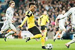 Borussia Dortmund Pierre Aubameyang during Champions League match between Real Madrid and Borussia Dortmund  at Santiago Bernabeu Stadium in Madrid , Spain. December 07, 2016. (ALTERPHOTOS/Rodrigo Jimenez)