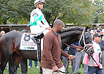 San Pablo, ridden by Javier Castellano, runs in the TVG Jockey Club Gold Cup Invitational Stakes (GI) at Belmont Park in Elmont, New York on September 29, 2012.  (Bob Mayberger/Eclipse Sportswire)