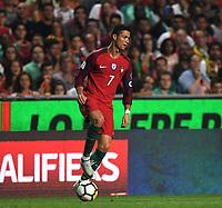 (171011) -- LISBON, Oct. 11, 2017 -- Cristiano Ronaldo of Portugal controls the ball during the FIFA World Cup WM Weltmeisterschaft Fussball 2018 Qualifiers Group B match between Portugal and Switzerland at the Luz stadium in Lisbon, Portugal, on Oct. 10, 2017. Portugal won 2-0.<br /> Foto Zhang Liyun/Xinhua/Imago/Insidefoto
