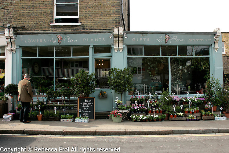 La Fleur plant shop and cafe on Royal Hill in Greenwich, London, UK