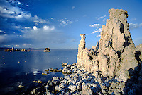 Late afternoon sunlight rakes across MONO LAKE at SOUTH TUFA GROVE in this National Scenic Area - CALIFORNIA