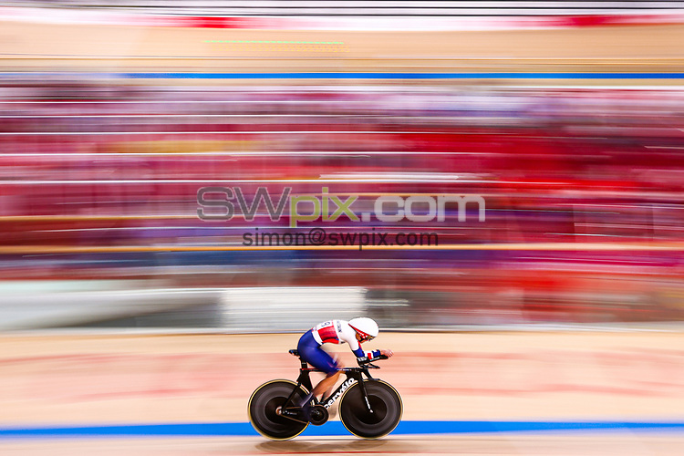 Picture by Alex Whitehead/SWpix.com - Tokyo 2020 Paralympics - 25/08/2021 - Track Cycling - Izu Velodrome, Izu, Japan - Crystal Lane-Wright of Great Britain during the Women's C5 3000m Individual Pursuit qualifying.