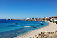 Cavo Paradiso is one of the most famous beaches in Mykonos, Greece