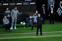 Steve Cooper Head Coach of Swansea City during the Sky Bet Championship match between Swansea City and Huddersfield Town at the Liberty Stadium in Swansea, Wales, UK. Saturday 17 October 2020