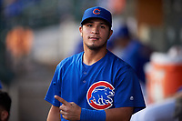AZL Cubs 1 Herson Perez (4) poses for a photo during an Arizona League game against the AZL Giants Orange on July 10, 2019 at Sloan Park in Mesa, Arizona. The AZL Giants Orange defeated the AZL Cubs 1 13-8. (Zachary Lucy/Four Seam Images)
