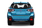 Straight rear view of 2020 Subaru Crosstrek Hybrid 5 Door SUV Rear View  stock images