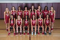Stanford, Ca - September 20, 2017: The 2017-2018 Stanford Cardinal Women's Basketball Team