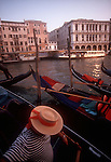 Italy, Venice, Gondolier, Grand Canal, Europe,