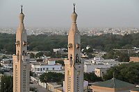 MAURETANIA, Nouakchott, saudi mosque / MAURETANIEN, Nuakschott, Saudi Moschee