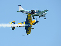 FORT LAUDERDALE, FLORIDA - MAY 07:  Matt Chapman in the Embry Riddle Extra 330LX at the Fort Lauderdale Air Show on May 7, 2016 in Fort Lauderdale, Florida. <br /> <br /> <br /> People:  Embry Riddle Extra 330LX