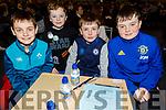 Scartaglin NS taking part in the Cara Credit Union School Quiz in the I T Tralee on Sunday.L to r: Adam Caldwell, Sean O'Connor, Daniel O'Sullivan and Jack O'Connor.