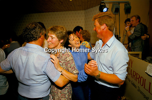 Lisdoonvarna County Clare Eire. Month long annual matchmaking festival. Couples dancing having fun at  Hydro Hotel Ireland 1990s