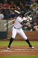 Salt River Rafters Seth Beer (8), of the Arizona Diamondbacks organization, at bat during an Arizona Fall League game against the Mesa Solar Sox on September 19, 2019 at Salt River Fields at Talking Stick in Scottsdale, Arizona. Salt River defeated Mesa 4-1. (Zachary Lucy/Four Seam Images)