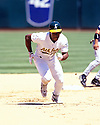 Oakland A's Rickey Henderson(42) in action during a game from his 1998 season with the Oakland A's at the Oakland-Alameda County Coliseum in Oakland, California. Rickey Henderson played for 25 years with 9 different teams and was inducted to the Baseball Hall of Fame in 2009.