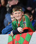 A young Kilmurry Ibrickane fan looks on during their senior football final replay against Cratloe at Cusack park. Photograph by John Kelly.
